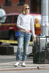 Kate Mara Street Style - Out in New York City - August 2014