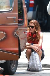 Kate Walsh - 'Bad Judge' Set Photos, Los Angeles July 2014