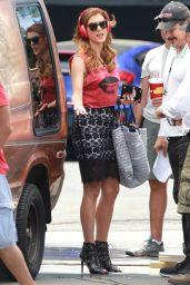 Kate Walsh - 'Bad Judge' Set Photos, Los Angeles July 2014