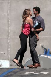 Katharine McPhee - Scorpion Set Photos, August 2014