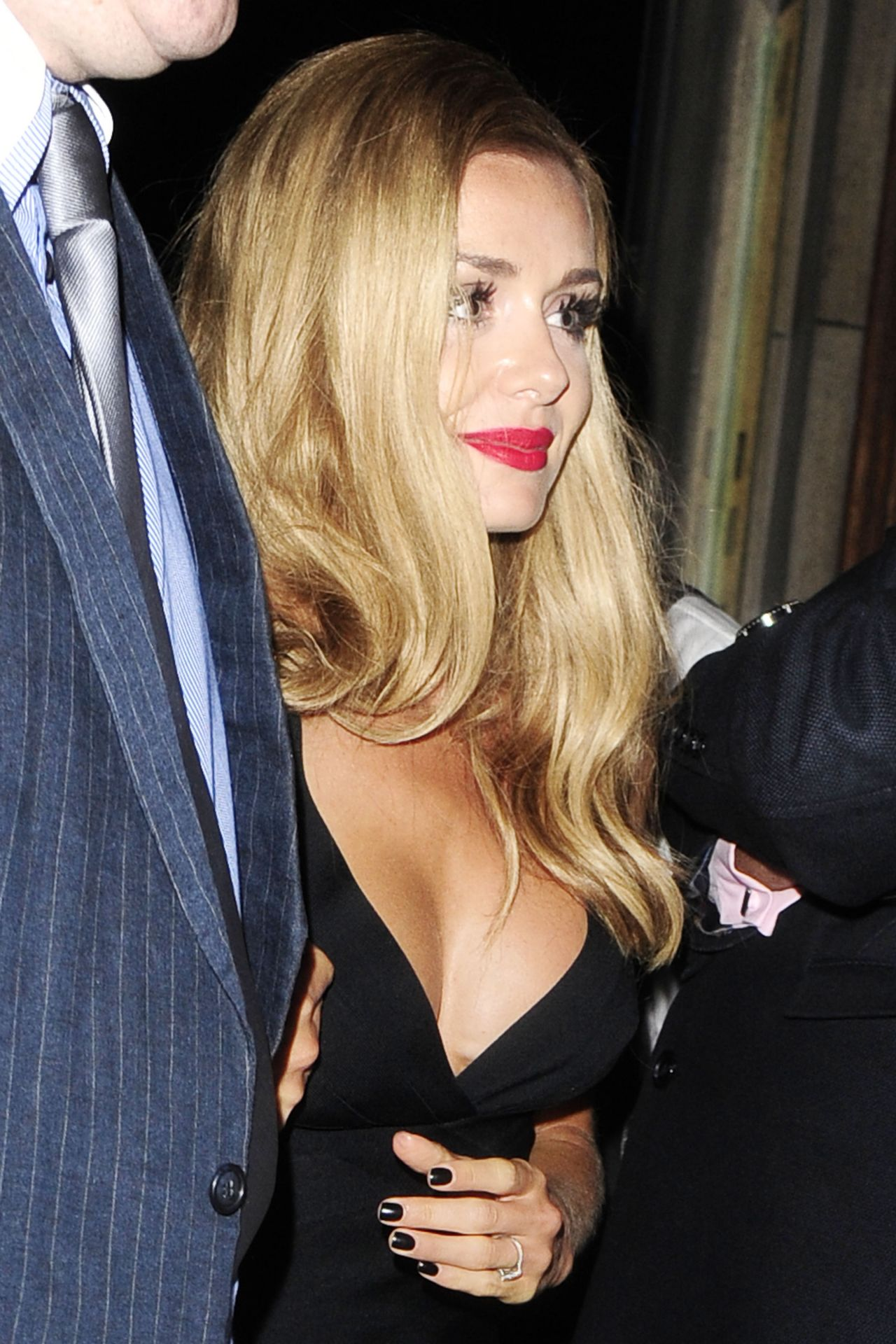 Katherine Jenkins Night Out Style - Out in London, August 2014