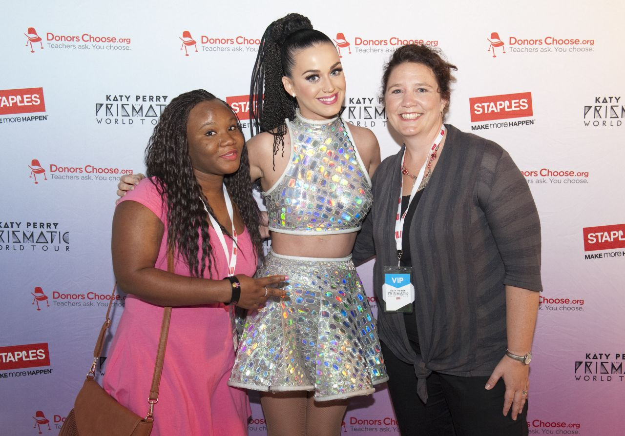 Katy Perry Attends The Staples DonorsChoose.org Meet and Greet - August 2014