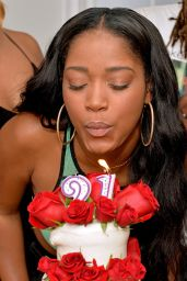 Keke Palmer Celebrates Her Birthday in Malibu - August 2014