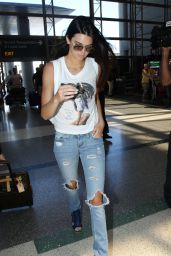 Kendall Jenner at LAX Airport - August 2014