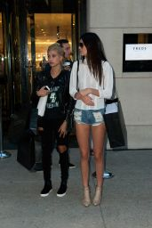 Kendall Jenner & Hailey Baldwin Shopping at Barneys New York in NYC - August 2014