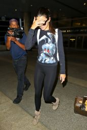 Kendall Jenner in Leggings at LAX Airport - August 2014