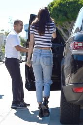 Kendall Jenner in Ripped Jeans - Out in West Hollywood - August 2014