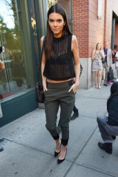 Kendall Jenner – Leaving Kanye's Apartment in Soho, New York City