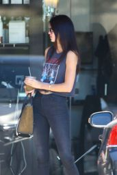 Kendall Jenner Wears Pink Floyd T-shirt - Out in West Hollywood, Aug. 2014