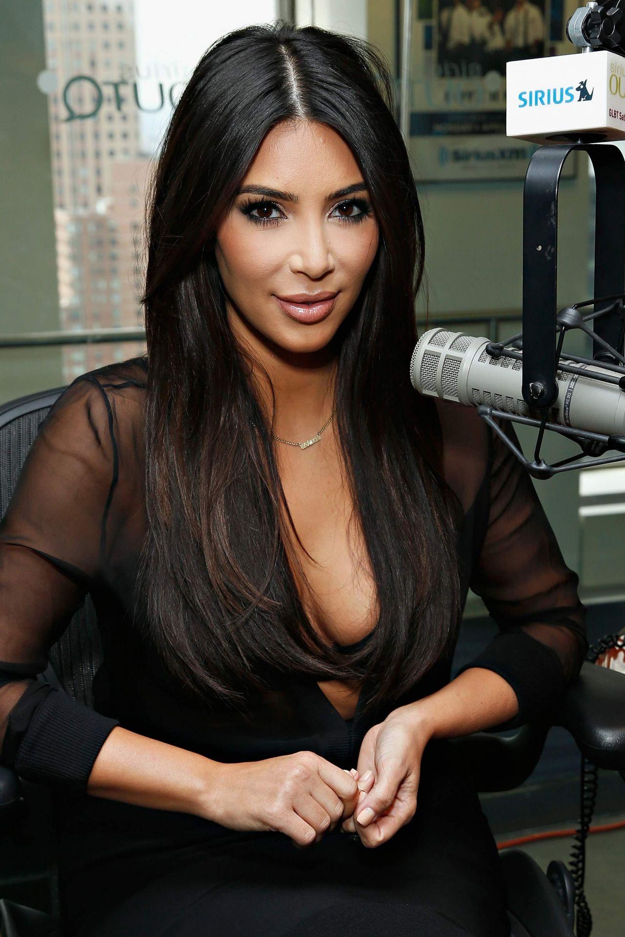 Kim Kardashian At the SiriusXM Studios in New York City