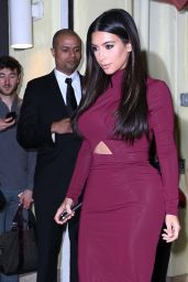 Kim Kardashian Night Out Style - at Serafina in New York City - August 2014