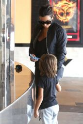 Kim Kardashian Street Style - Going to a Movie Theater in Calabasas - August 2014