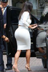 Kim Kardashian Style - Leaving The Peninsula Beverly Hills - August 2014