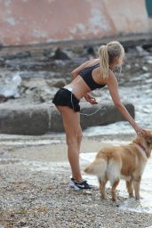 Kimberley Garner BIkini Candids - Workout at Port of Saint-Tropez - July 2014