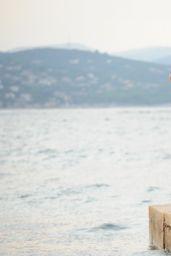 Kimberley Garner BIkini Candids - Workout at Port of Saint-Tropez - July 2014