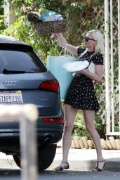Kirsten Dunst - Baby Shower at Off Vine Restaurant in Hollywood - August 2014