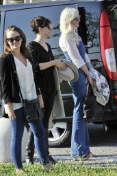 Kirsten Dunst & Felicity Jones - Arriving in Venice for 2014 Venice Film Festival