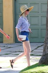Kirsten Dunst in Shorts - Out in Los Angeles, August 2014