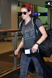 Kristen Stewart at Narita Airport (Tokyo) - August 2014