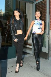 Kylie Jenner and Hailey Baldwin - Leaving Kanye