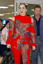 Lady Gaga Arriving in Seoul - August 2014