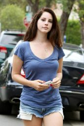 Lana Del Rey in Denim Shorts - Out in Los Angeles, August 2014
