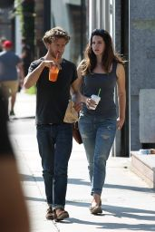 Lana Del Rey With a Male Friend on Abbot Kinney in Venice Beach - August 2014