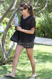 Lea Michele - Visits Friend in West Hollywood - August 2014