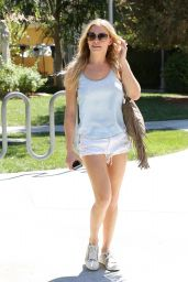 LeAnn Rimes Shows Off Her Tanned Legs - Out in Calabasas, Aug. 2014