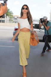 Lily Aldridge Style - Arriving at LAX Airport - August 2014