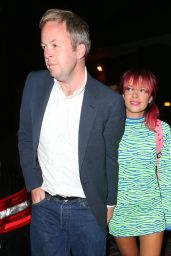 Lily Allen Night Out Style - at The Chiltern Firehouse With Her Husband Sam Cooper - August 2014