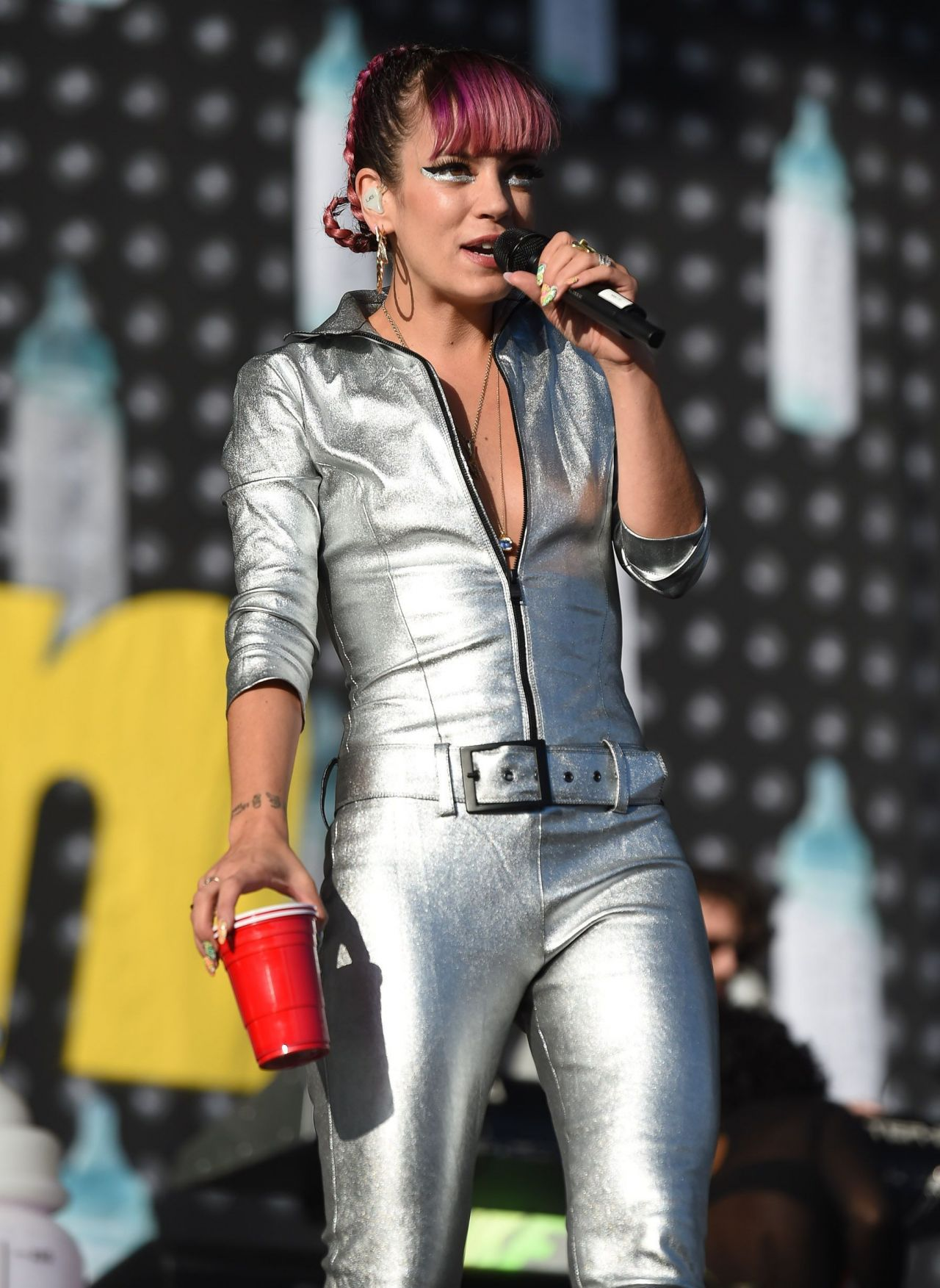 Lily Allen Performs at V Festival at Hylands Park - August 2014