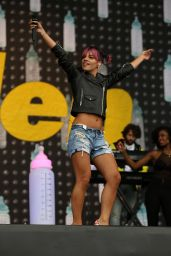 Lily Allen Performs at V Festival at Weston Park in Staffordshire (UK) - August 2014