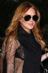 Lindsay Lohan Arriving at The Bowery Hotel in New York City - August 2014