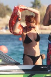 Lindsay Lohan in a Bikini in Greece - August 2014