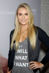 Lindsey Vonn at Under Armour 'I WILL I WANT' Campaign Launch in New York City