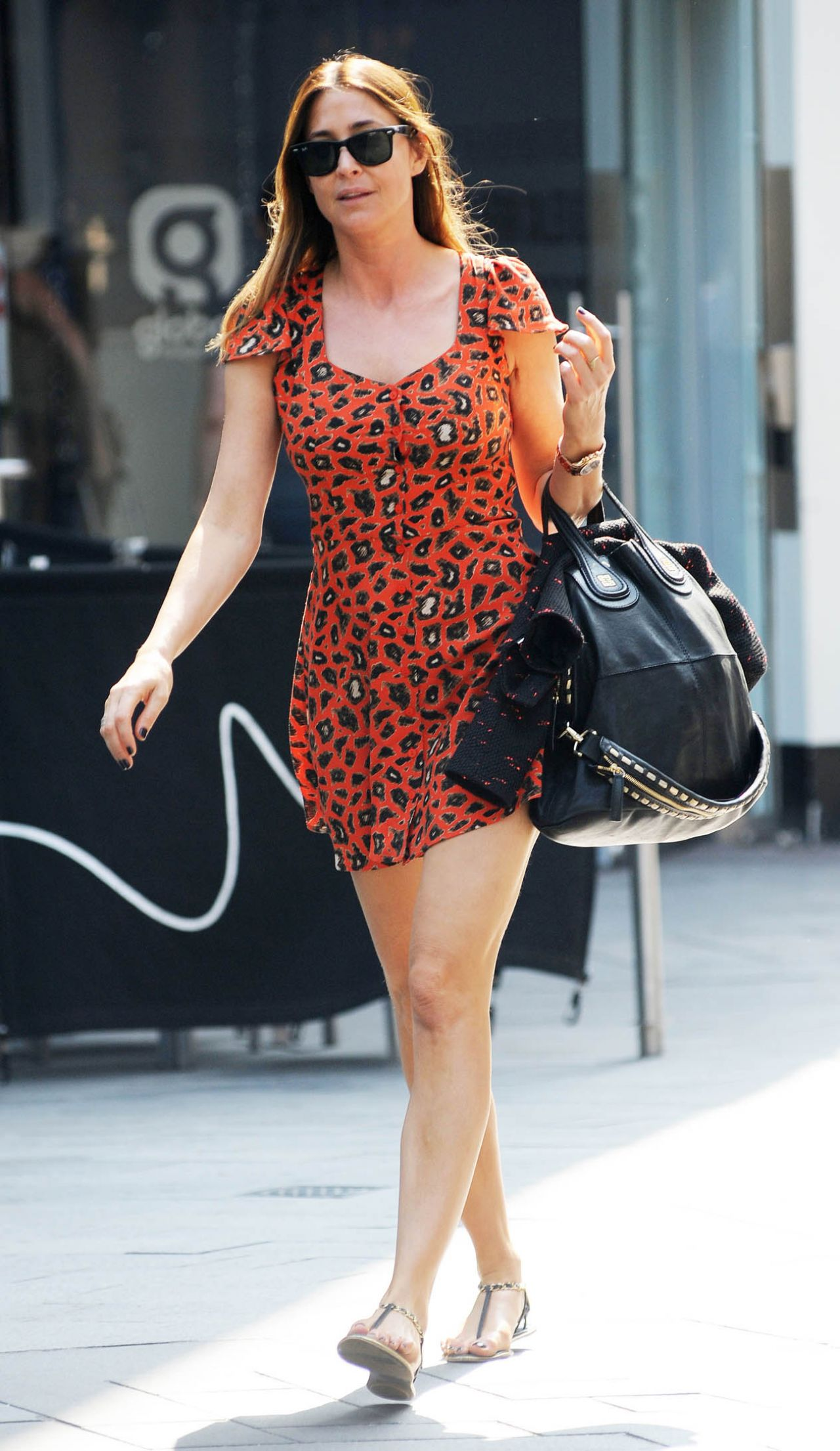 Lisa Snowdon in Mini Dress - Leicester Square in London, July 2014
