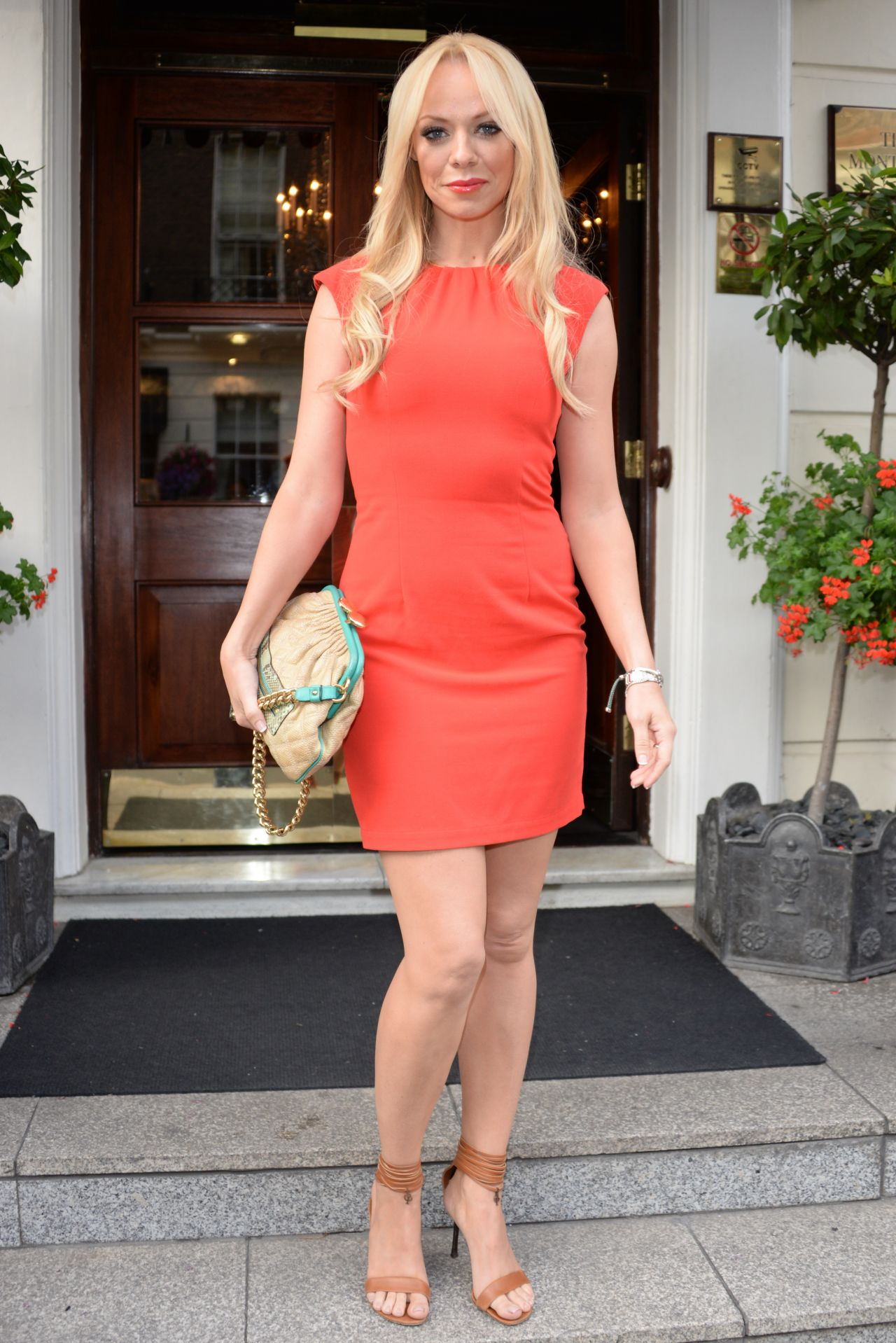 Liz Mcclarnon In Mini Dress Ok Summer Bbq In London