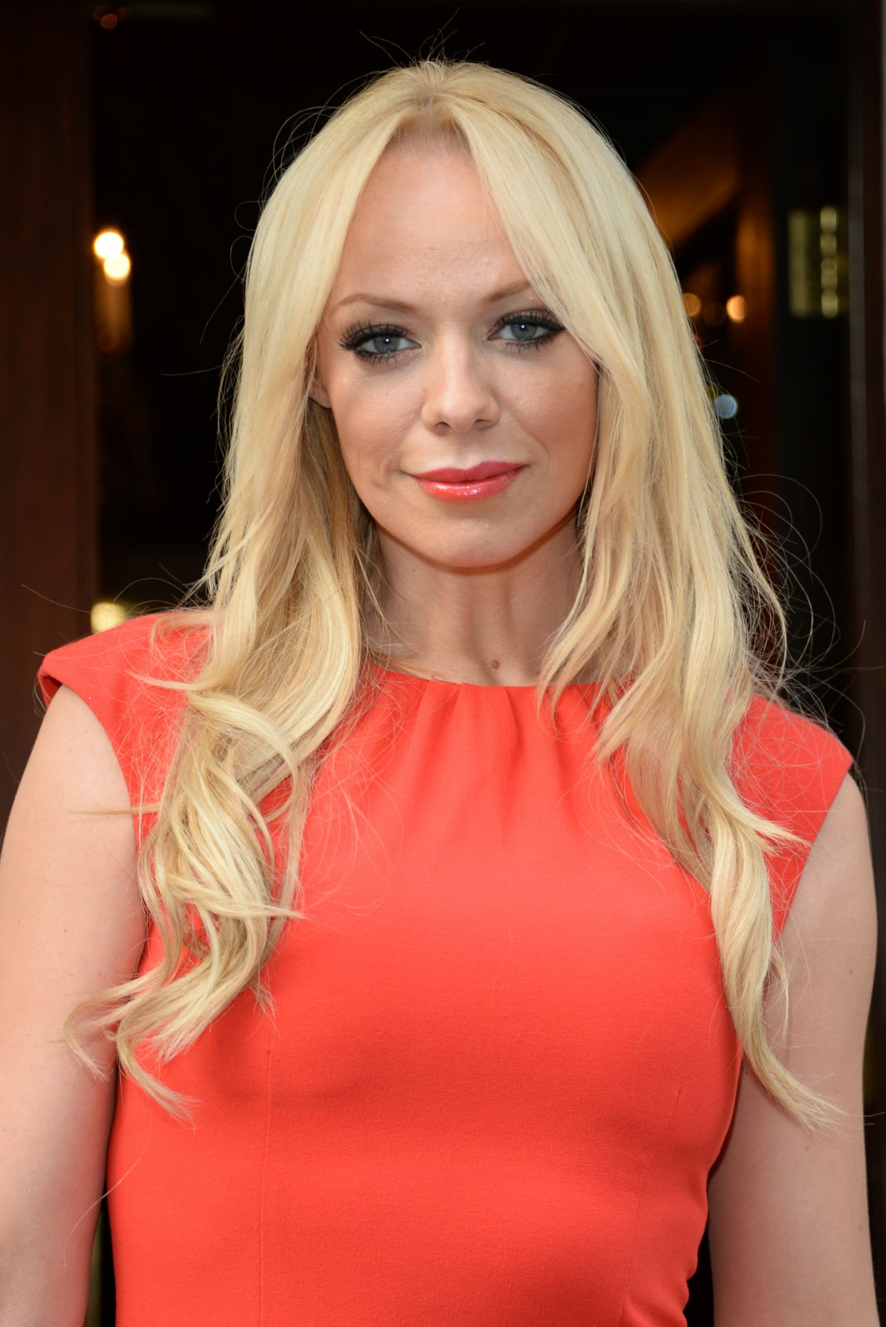 Liz McClarnon in Mini Dress  OK! Summer BBQ in London - 2015 Summer Hairstyles