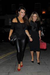 Lizzie Cundy Night Out Style - The Chiltern Firehouse in London - August 2014