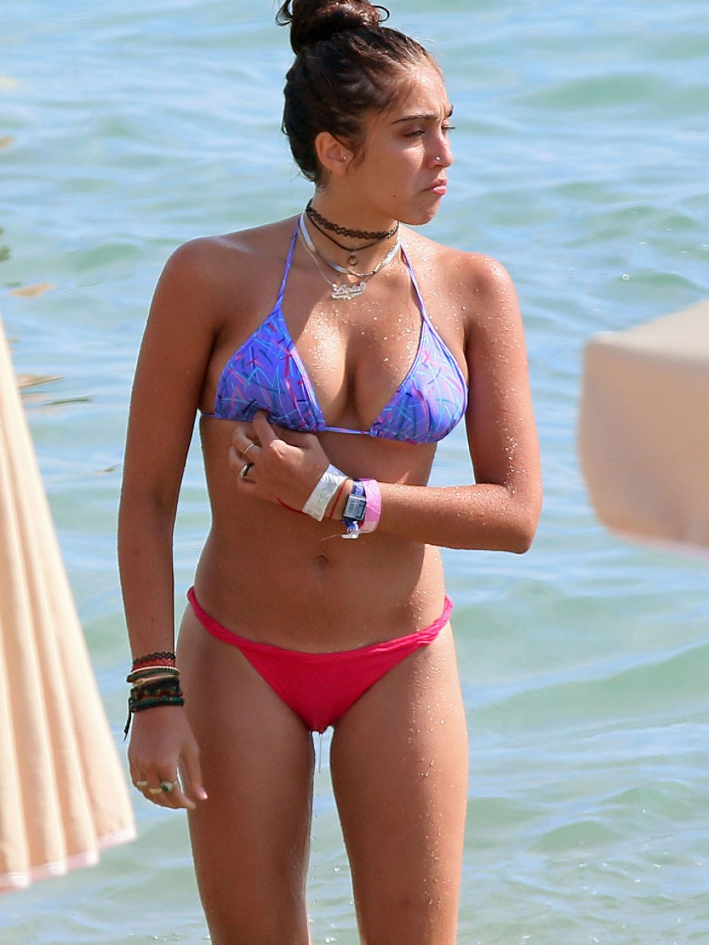 Lourdes Leon Hot in a Bikini at the Beach in Cannes - August 2014