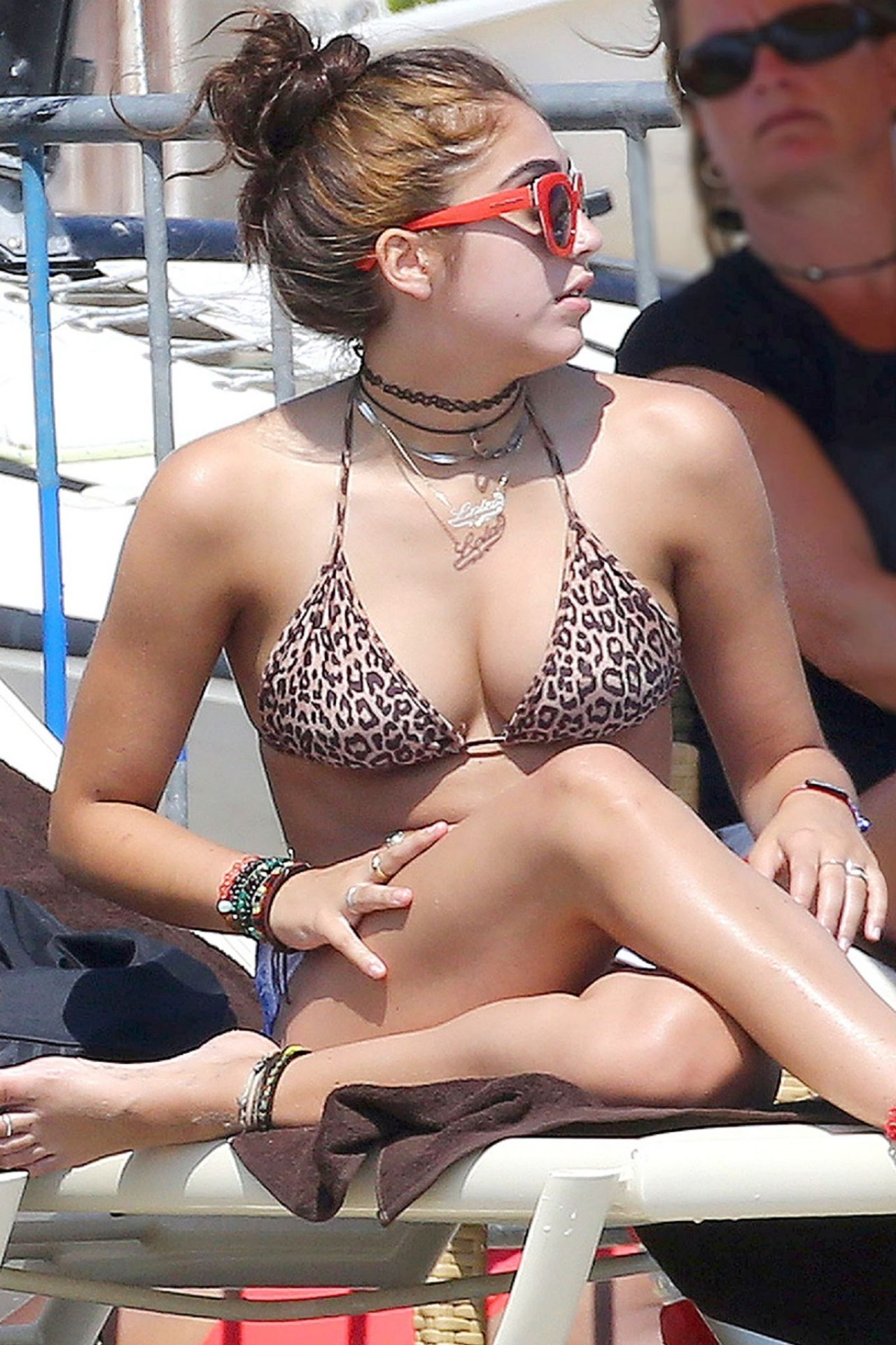 Lourdes Leon In A Bikini Top In France August 2014