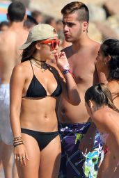 Lourdes Leon in Black Bikini in Cannes - August 2014