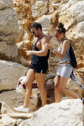 Lourdes Leon in Short Skirt - Arriving on Ibiza, August 2014