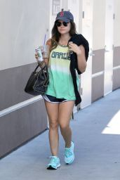 Lucy Hale Gym Style - Out in Los Angeles, Aug. 2014