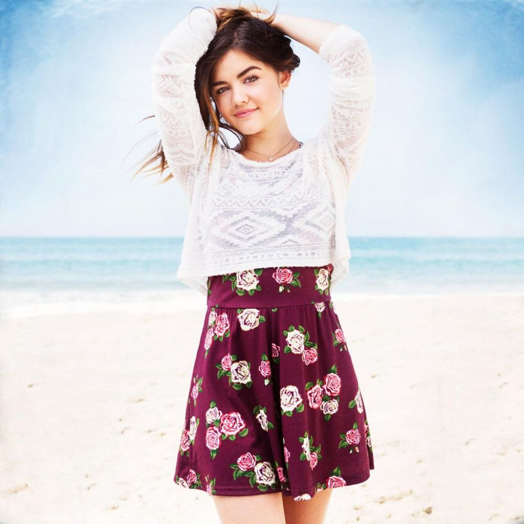 lucy hale hollister clothing photoshoot 2014
