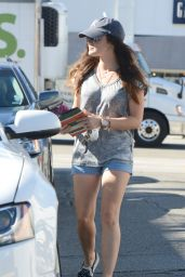 Lucy Hale in Shorts - Out in Los Angeles, August 2014