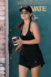 Lucy Hale - Leaving the Gym in West Hollywood - August 2014
