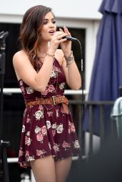 Lucy Hale Performs at the Hollister House