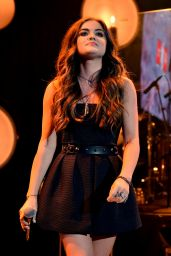 Lucy Hale Performs at The iHeartRadio Theater iN Burbank - July 2014